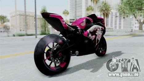 Kawasaki Ninja 250FI Enoshima Junko für GTA San Andreas zurück linke Ansicht