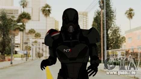 ME2 Shepard Default N7 Armor with Death Mask für GTA San Andreas