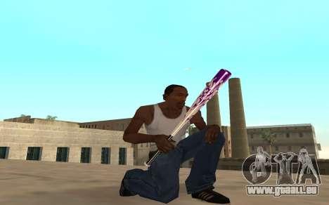 Purple fire weapon pack für GTA San Andreas zweiten Screenshot