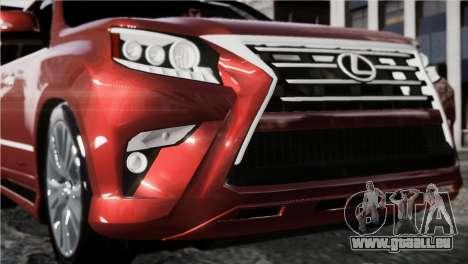 Lexsus GX460 pour GTA 4 Vue arrière de la gauche