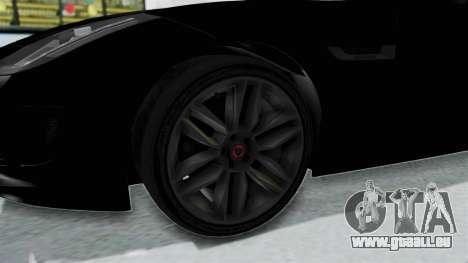 Jaguar F-Type Coupe 2015 pour GTA San Andreas vue arrière