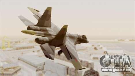 SU-27 Hydra für GTA San Andreas rechten Ansicht