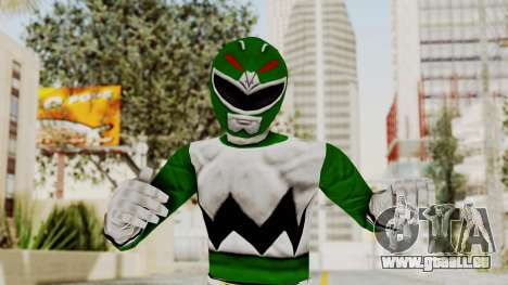 Power Rangers Lost Galaxy - Green für GTA San Andreas