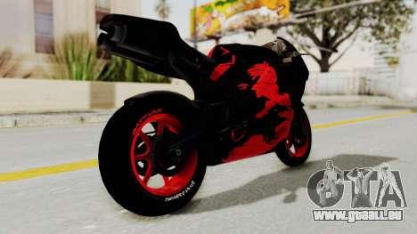 Bati Batik Hellboy Motorcycle v3 pour GTA San Andreas vue de droite