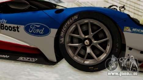 Ford GT 2016 LM für GTA San Andreas Rückansicht