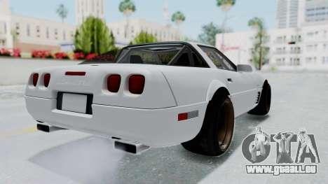 Chevrolet Corvette C4 Drift pour GTA San Andreas laissé vue