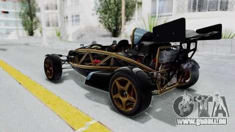 Ariel Atom 500 V8 für GTA San Andreas linke Ansicht
