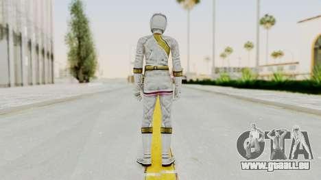 Power Rangers Wild Force - White für GTA San Andreas dritten Screenshot
