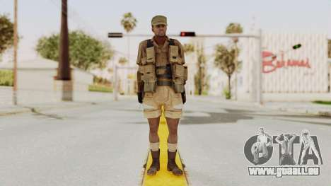 MGSV Phantom Pain CFA Combat Vest 2 v1 pour GTA San Andreas deuxième écran