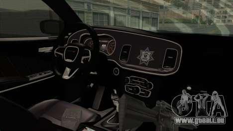 Dodge Charger RT 2016 Federal Police für GTA San Andreas Innenansicht