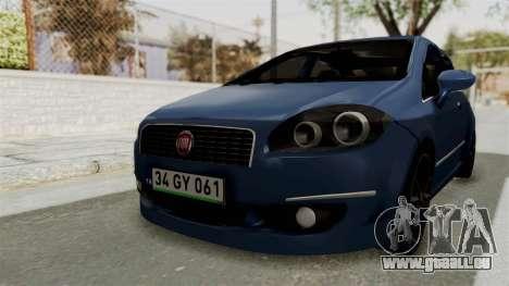 Fiat Linea 2011 pour GTA San Andreas vue de droite