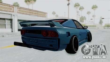 Nissan 180SX BETA pour GTA San Andreas vue de droite