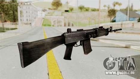 IOFB INSAS Detailed Black Skin für GTA San Andreas zweiten Screenshot