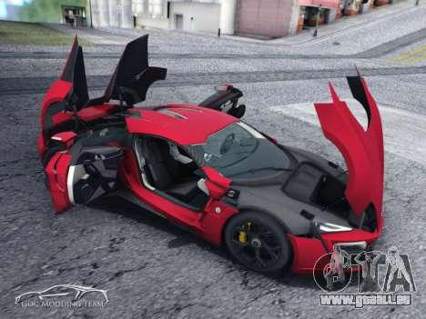 W Motors Lykan Hypersport 2015 HQ für GTA San Andreas zurück linke Ansicht