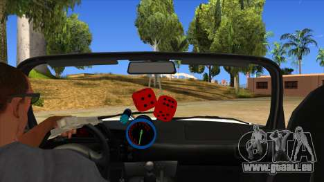 Honda S2000 MA Tunning für GTA San Andreas Innenansicht