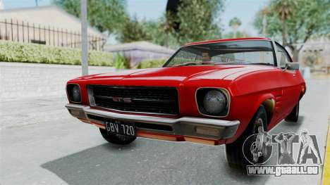 Holden Monaro GTS 1971 AU Plate HQLM pour GTA San Andreas vue de droite