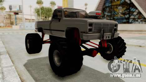 Chevrolet Silverado Classic 1985 Monster Truck für GTA San Andreas rechten Ansicht