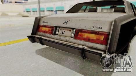 GTA 5 Dundreary Virgo SA Style für GTA San Andreas obere Ansicht