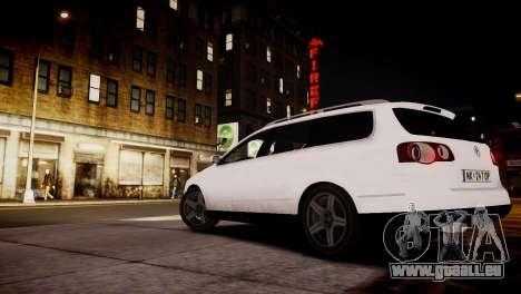 Volkswagen Passat Variant 2010 V1 pour GTA 4 Vue arrière de la gauche