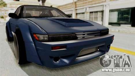 Nissan Silvia Sil80 pour GTA San Andreas vue de côté
