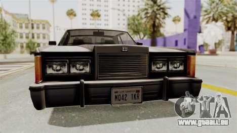 GTA 5 Dundreary Virgo SA Style für GTA San Andreas Innenansicht