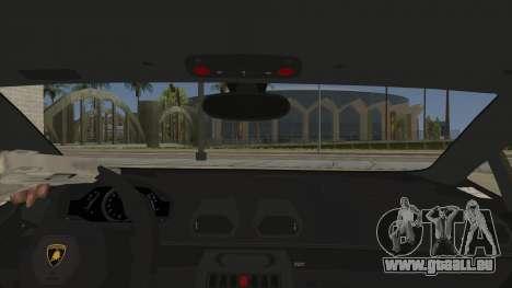 Lamborghini Huracan Liberty Walk für GTA San Andreas Innenansicht
