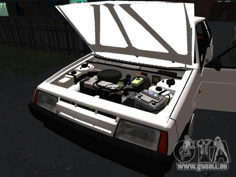 VAZ 2108 Stock by Greedy für GTA San Andreas Innen