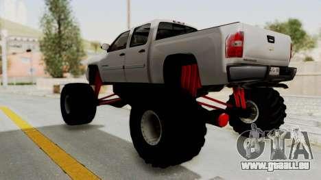 Chevrolet Silverado 2011 Monster Truck pour GTA San Andreas vue de droite