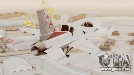 General Dynamics F-16A USAF Thunderbirds pour GTA San Andreas laissé vue