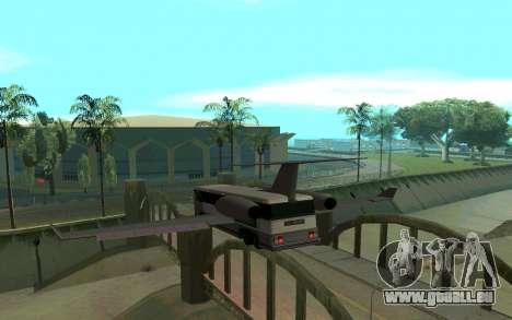 Sky Bus pour GTA San Andreas sur la vue arrière gauche