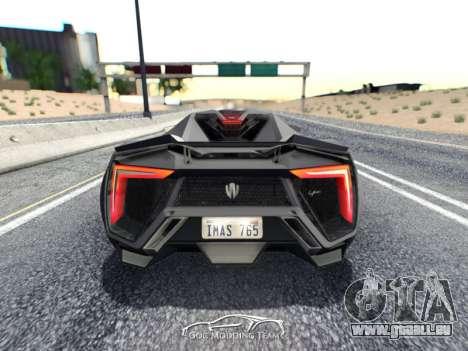 W Motors Lykan Hypersport 2015 HQ für GTA San Andreas linke Ansicht