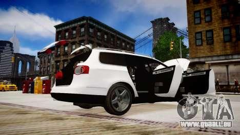 Volkswagen Passat Variant 2010 V1 pour GTA 4 vue de dessus