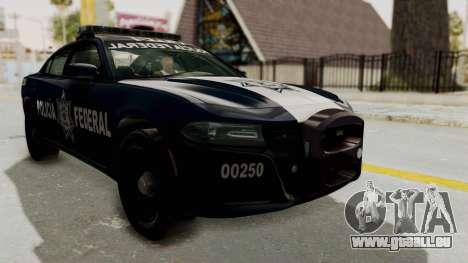Dodge Charger RT 2016 Federal Police pour GTA San Andreas vue de droite