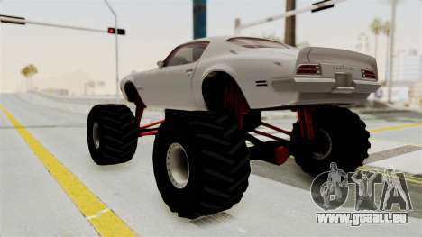 Pontiac Firebird 1970 Monster Truck für GTA San Andreas linke Ansicht