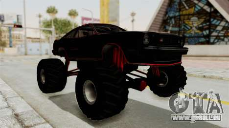 Ford Mustang King Cobra 1978 Monster Truck pour GTA San Andreas vue de droite