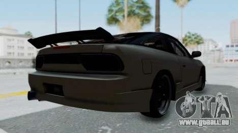 Nissan Sileighty TOD für GTA San Andreas zurück linke Ansicht