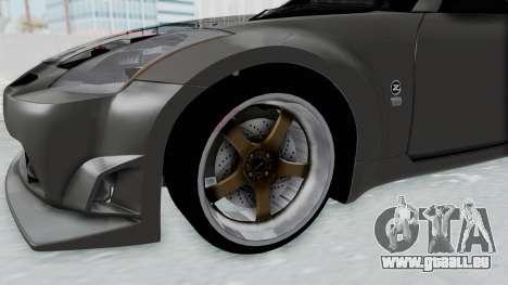 Nissan 350Z V6 Power pour GTA San Andreas vue arrière