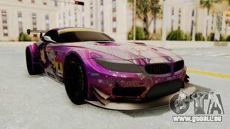 BMW Z4 GT3 Tobisawa Misaki pour GTA San Andreas sur la vue arrière gauche