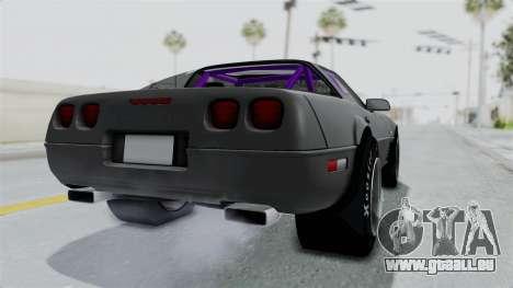 Chevrolet Corvette C4 Drag pour GTA San Andreas sur la vue arrière gauche