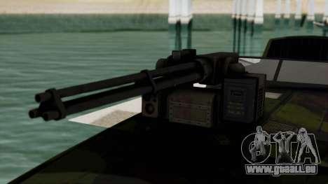 Triton Patrol Boat from Mercenaries 2 für GTA San Andreas Rückansicht