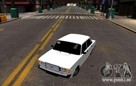 VAZ 2107 BPAN pour GTA 4 Vue arrière de la gauche