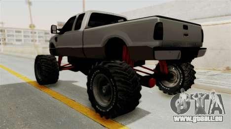 Ford F-350 Super Duty Monster Truck pour GTA San Andreas vue de droite