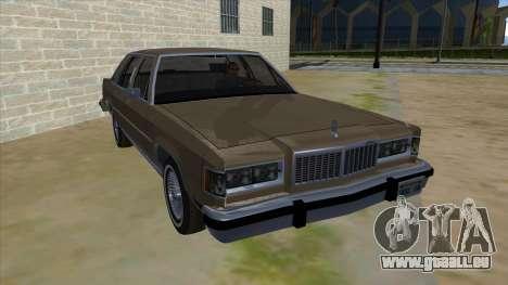 Mercury Grand Marquis 1986 v1.0 für GTA San Andreas Rückansicht