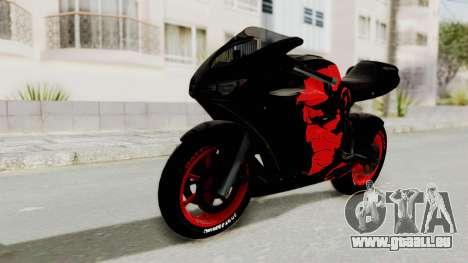 Bati Batik Hellboy Motorcycle v3 pour GTA San Andreas sur la vue arrière gauche