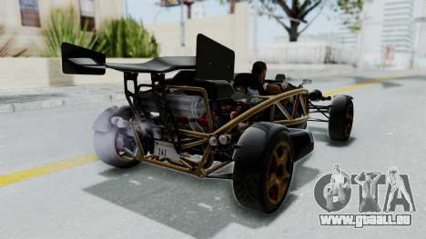 Ariel Atom 500 V8 pour GTA San Andreas sur la vue arrière gauche