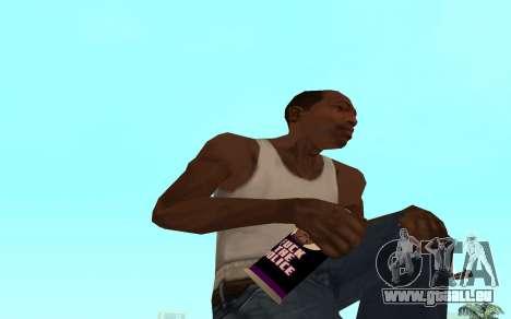 Purple fire weapon pack für GTA San Andreas siebten Screenshot