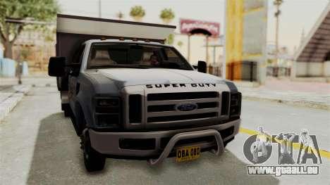 Ford F-350 Super Duty Volqueta für GTA San Andreas rechten Ansicht