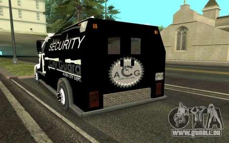 Van collectionneurs pour GTA San Andreas sur la vue arrière gauche