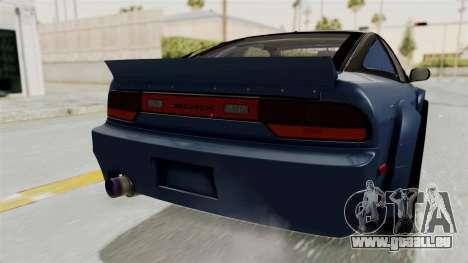 Nissan Silvia Sil80 pour GTA San Andreas vue de dessous