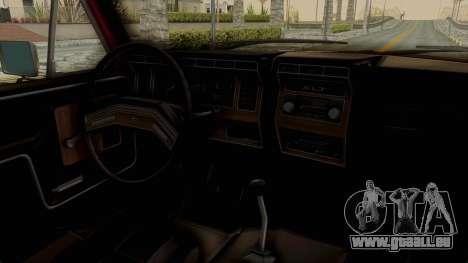 Ford Bronco 1985 Lifted für GTA San Andreas Innenansicht